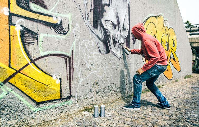 Demander l'enlèvement d'un graffiti sur Nantes Métropole